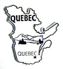Quebec White Souvenir Fridge Magnet