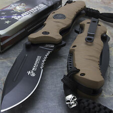 "8.25"" MTECH USMC RUBBER HANDLE SPRING ASSISTED FOLDING KNIFE Blade Pocket Open"