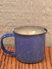 Swan Creek Enamelware Tin Mug Candle - Maple Caramel Swirl