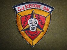 Vietnam War Patch US 3rd Marine Division 3rd RECON Battalion