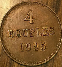 1945 GUERNESEY 4 DOUBLES COIN