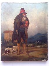 Ancien tableau ALPHONSE DELIONS XIXe Portrait de Berger Huile sur toile 19eme
