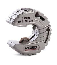 RIDGID 57018 15mm & 22mm 2-in-1 C-Style Small Plumbers Copper Pipe Tube Cutter