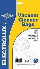 Electruepart Bag 222 CONF. da 5 sacchetti per adattarsi BOSS Cilindro Aspirapolvere
