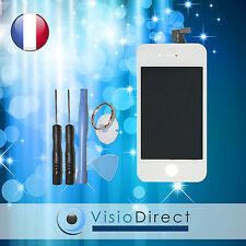 Ecran complet pour Iphone 4S blanc vitre tactile + ecran LCD sur chassis + outil