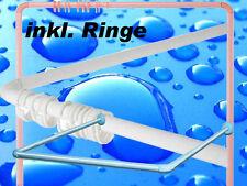 Winkelstange Duschvorhangstange Winkelduschstange Blau Stange für Badewanne