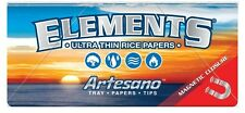 2 Elements 1¼ Artesano Ultra Thin Rice Rolling Papers (100 PAPERS 100 TIPS)