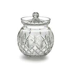 Waterford Crystal Lismore Round Biscuit Barrel Cookie Jar Brand New #129582