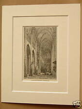 CLERMONT - FERRAND CATHEDRAL FRANCE MOUNTED ENGRAVING FROM c1890 OLD PUBLICATION
