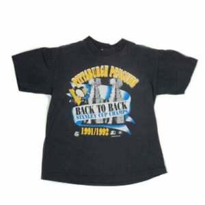 1992 Starter Pittsburgh Penguins Black Unisex T-Shirt Cotton size S-3XL TK0986