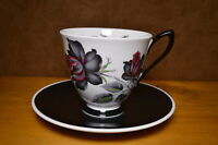 Royal Albert Masquerade Duo, Coffee Cup and Saucer, Elegant Vintage Cup Duo