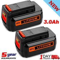 For Black + Decker 40V Max Li-Ion Battery LBXR36 LBX2040 LHT2436 LBXR2036 2-Pack