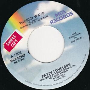 "PATTY LOVELESS - Wicked Ways 7"" 45"