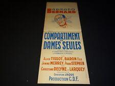 COMPARTIMENT DE DAMES SEULES ! christian jaque affiche cinema train rare 1934