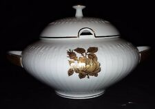 Edelstein Bavaria China - Gold Rose Pattern - Soup Tureen (No Spoon)