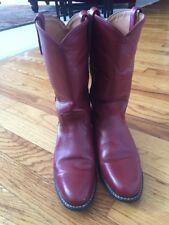 Acme18043 7M Vintage RED  Roper Boots USA Made Cowboy Western Mint!