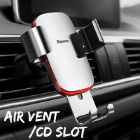 Baseus Aluminium Voiture Air Vent Gravité Auto Lock Support Tout Téléphone GPS