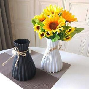 Modern Plastic Vase European Anti-ceramic Flowers Vase Wedding Decors Simplicity