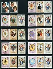 1981 Royal Wedding - Ascension to Vanuatu x 23 sets - MUH