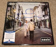 LIAM & NOEL GALLAGHER SIGNED OASIS VINYL ALBUM WHATS THE STORY MORNING GLORY BAS