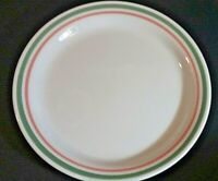"""Corelle Heather pink & green band 8 1/2"""" salad plate"""