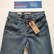 Levi's Premium 724 Women's Blue High Rise Straight Fit Jeans W28 L31