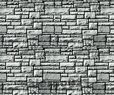SET  OF TWO (2) BLACK/WHITE COLOR  STONE WALL DECAL 1:18/1:24 Scale Diorama