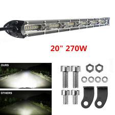 "1Pcs 20"" 270W Single Row Car Truck Spot Flood Combo Beam Slim LED Work Light Bar"