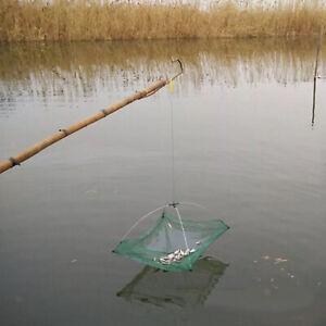 24 Inches Folded Fishing Net Small Fish Shrimp Crayfish Bait Mesh Trap