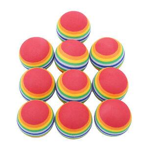 Favors Golf Toy Foam Exercise Activity Play Training Eva 10Pcs Rainbow Ball FM