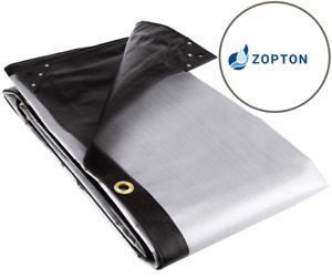 250 GSM Tarp - Heavy Duty Silver-Black Waterproof Tarpaulin | Ground Sheet