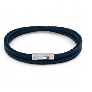 Tommy Hilfiger Blue Leather Mens Bracelet 2790264S
