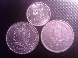 VENEZUELA     25   CENTIMOS   1965   1  BOLIVAR    1967 1977    SEP14