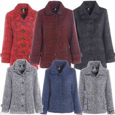 Button Wool Unbranded Checked Coats & Jackets for Women