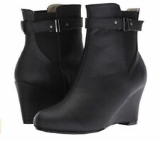 Unbranded High (3 in. and Up) Wedge Synthetic Boots for Women