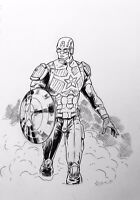 Captain America Ink Drawing