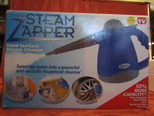 OMEGA Mini Steam Zapper CLEANER Hand Held With Attachments MODEL 350A NIB BLUE!