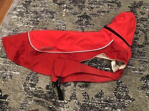 Ruffwear Sun Shower Dog Rain Jacket Small Red With Removable Hood