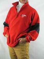 Detroit REDWINGS NHL Coolist Game  Fleece Jacket  1/4 Neck Zip  Men's L   YNZ2