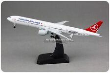 18CM Solid TURKISH AIRLINES BOEING777-300 Passenger Airplane Metal Diecast Model