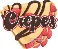 Crepes DECAL (Choose Your Size) French Food Truck Concession Sticker