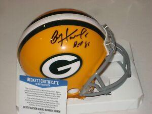 PAUL HORNUNG Signed Green Bay PACKERS Mini-helmet w/ Beckett COA & HOF Inscrip