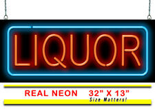 "Liquor Neon Sign | Jantec | 32"" x 13"" 