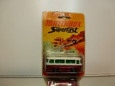 MATCHBOX 12 SETRA COUCH - RED + WHITE - GOOD CONDITION ON CARD-BLISTER