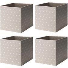 IKEA DRÖNA 4-Set Fach Box Expedit Kallax Regal Aufbewahrungsbox beige/gepunktet