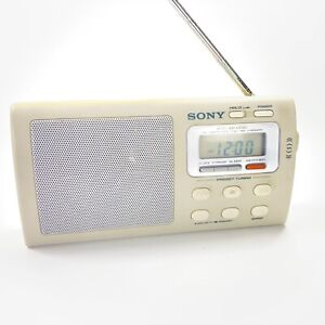 Sony ICF-M410V TV Weather AM/FM 4-Bands Portable Radio Clock Tested