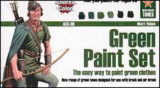 Andrea Miniatures AND-ACS-009 Andrea Color Green Paint Set