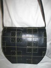 SUBLIME AUTH sac à main VALENTINO GARAVANI  cuir et reptile  TBEG   bag vintage