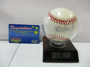 Steve Avery Signed Baseball with Authentication