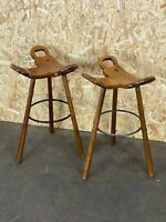 2x 50er 60er Jahre Bar Stools Barhocker Attributed Carl Malmsten Sweden Design